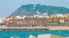 Barcelona coast 4K Stock Footage