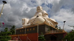 Tilt shot - big buddha Stock Footage