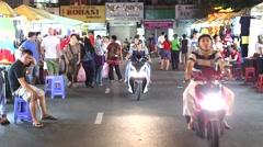 Ben thanh - night market 2 Stock Footage