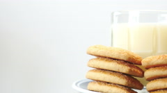 Cookies and Milk Stock Footage