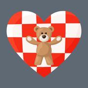 Croatian Teddy Bears Stock Illustration