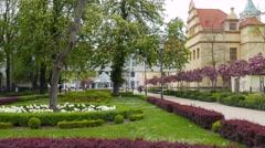 Sopot, Poland. City Park Stock Footage