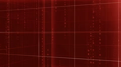cubes background with matrix text RED - stock footage
