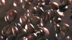 Fall coffee beans in smoke Piirros