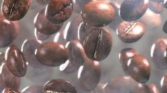 Fall coffee beans in smoke Stock Illustration
