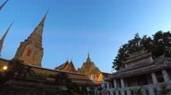 Wat Pho in Bangkok, Thailand Stock Footage
