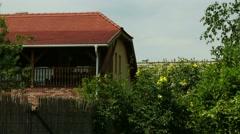 4K Mediterranean Style Rural Building and Garden Stock Footage