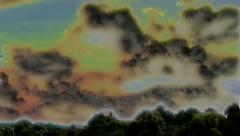 Special effected clouds - stock footage