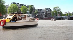 Time Lapse Canals of Amsterdam, Netherlands - stock footage