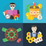 Casino or poker flat illustration Stock Illustration