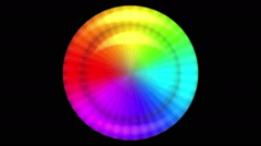 Rotating Rainbow Button, Seamless Loop - stock footage