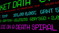 Stock market Greece on a death spiral Stock Footage