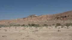 Wild desert landscape of Negev Desert Israel - stock footage
