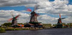 Active windmills Stock Photos