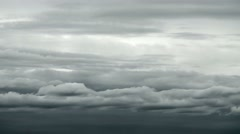 3 in 1 video! Sky in the puffy and dark clouds, close up zoom view Stock Footage