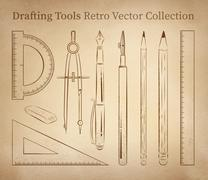 Drafting tools - stock illustration