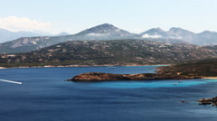 4K UltraHD A timelapse of the coastline near Calvi in Corsica Stock Footage