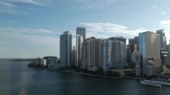 Miami Downtown Day to Night Stock Footage