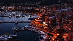 4K UltraHD Day to night timelapse from the Citadel in Calvi in Corsica - stock footage