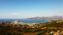 4K UltraHD A long view timelapse near Calvi, Corsica Stock Footage