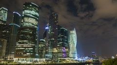 4K Time lapse of Moscow International Business Center, Moscow-City. Stock Footage