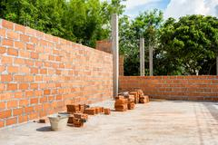 Stock Photo of Brickwork in the new house