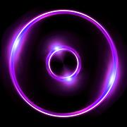 purple lens ring flares double circle - stock illustration