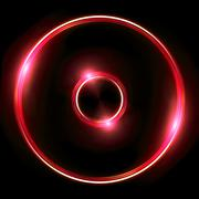 red Lens ring flares double circle - stock illustration