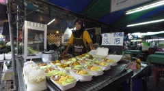 Cookshop in Krabi, Thailand Stock Footage