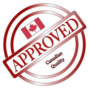 Canadian Approved Quality Stamp Stock Illustration
