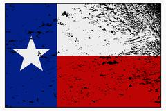 Texas Flag Grunged - stock illustration