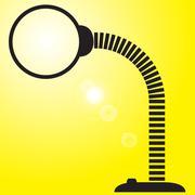 Flexible Desk Lamp Silhouette - stock illustration
