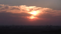 SUNSET OVER THE LANDSCAPE OF THE SINAI PENINSULA Stock Footage