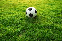 football green grass ball stadiun football field game sport background for de - stock photo