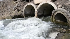Strong current at a small river Stock Footage