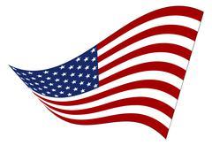 Stock Illustration of American Flag Wavy