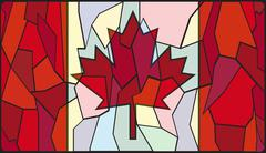 Canadian Stained Glass Window Stock Illustration