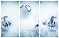 Set of abstract Christmas banners. Stock Photos