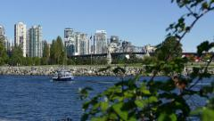 Vancouver - Aquabus in English Bay Stock Footage