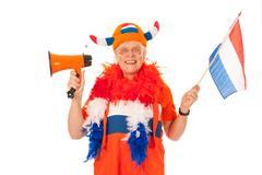 Dutch soccer supporter - stock photo