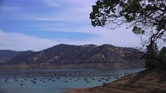 Oroville Lake Marina Stock Footage