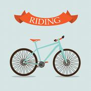 Retro Bicycle Background Vector Illustrator - stock illustration