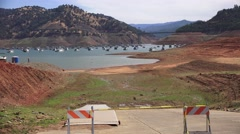 Oroville Lake disappearing Stock Footage