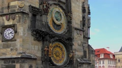 4K footage of the Prague Astronomical Clock in Prague, Czech Republic - stock footage