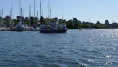 Vancouver - Aquabus Water Trip - 02 - False Creek Boats Stock Footage