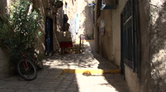 Jaffa. The streets of the old town Stock Footage