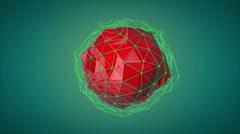 Optimization.Red geosphera animation Stock Footage