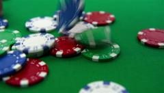 Falling poker chips Stock Footage