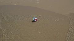children's blocks on the beach - stock footage
