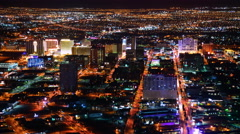 4K Las Vegas Timelapse Cityscape 34 Downtown at Night Stock Footage